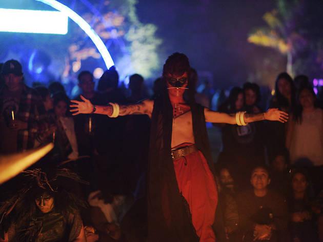 Bailarina en el Carnaval de Bahidorá