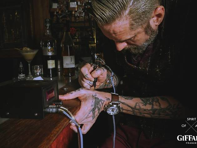 Giffard X Sati Charity Event: Spirit of Art, Tattooed Bartenders
