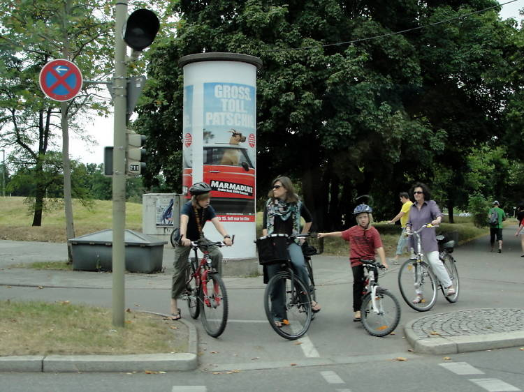 Watch for bike lanes