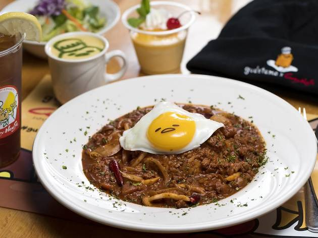 Gudetama Menu Pop-Up at Curry House