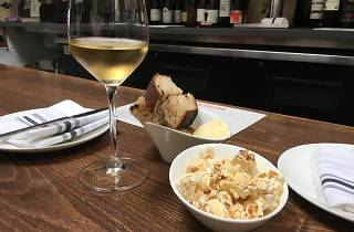 Wine and snacks at High Treason