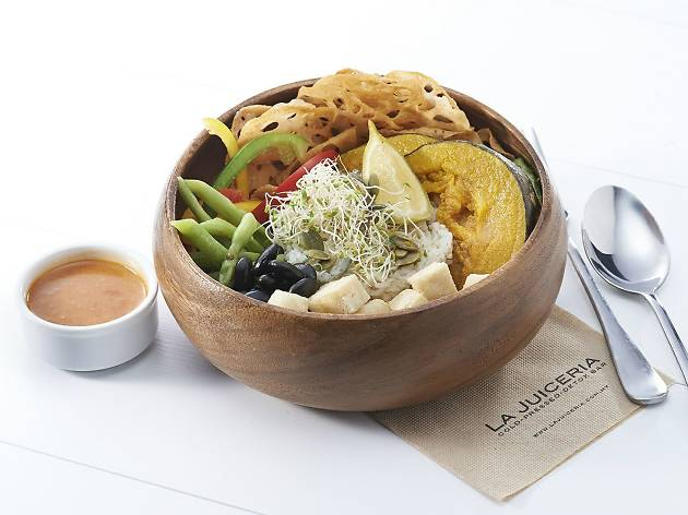 Goodness Greens and La Juiceria Superfoods Buddha Bowl