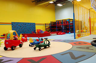 Indoor play space LittleSPORT touts sports-themed play options for crawlers to 6 year olds.