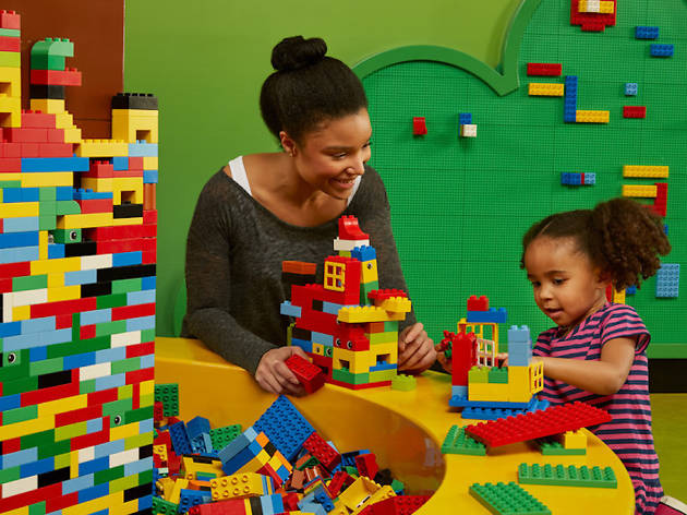 Kids can play with thousands of LEGOS at LEGOLAND in the Plymouth Meeting Mall.