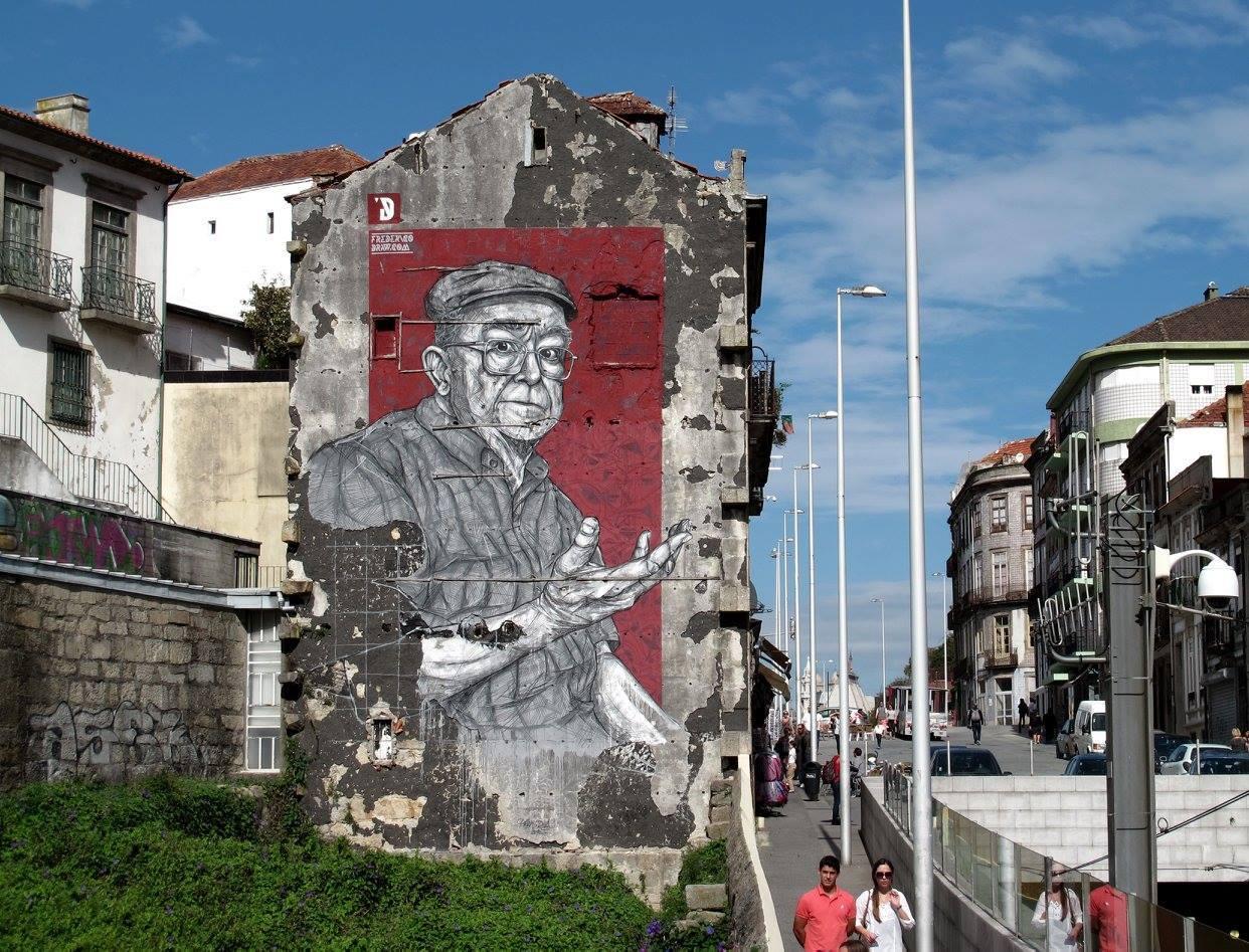 Mural de Frederico Draw - O An.fi.tri.ão