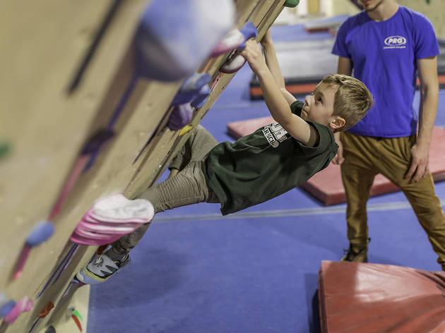 Philadelphia Rock Gym locations offer ample opportunity for kids to climb on rocks, walls, letters and more.