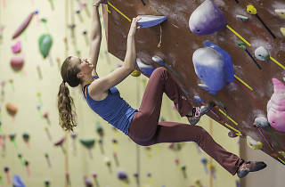 You can do lots of strenuous indoor climbing at Philadelphia Rock Gym