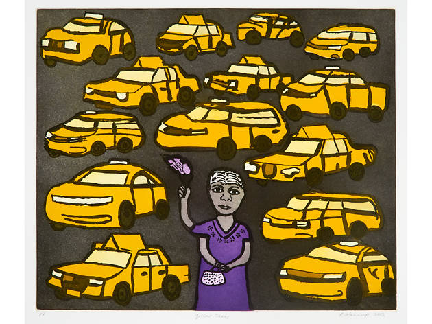 Laurel Nannup, Yellow Taxis, 2012 Art Month Sydney 2018