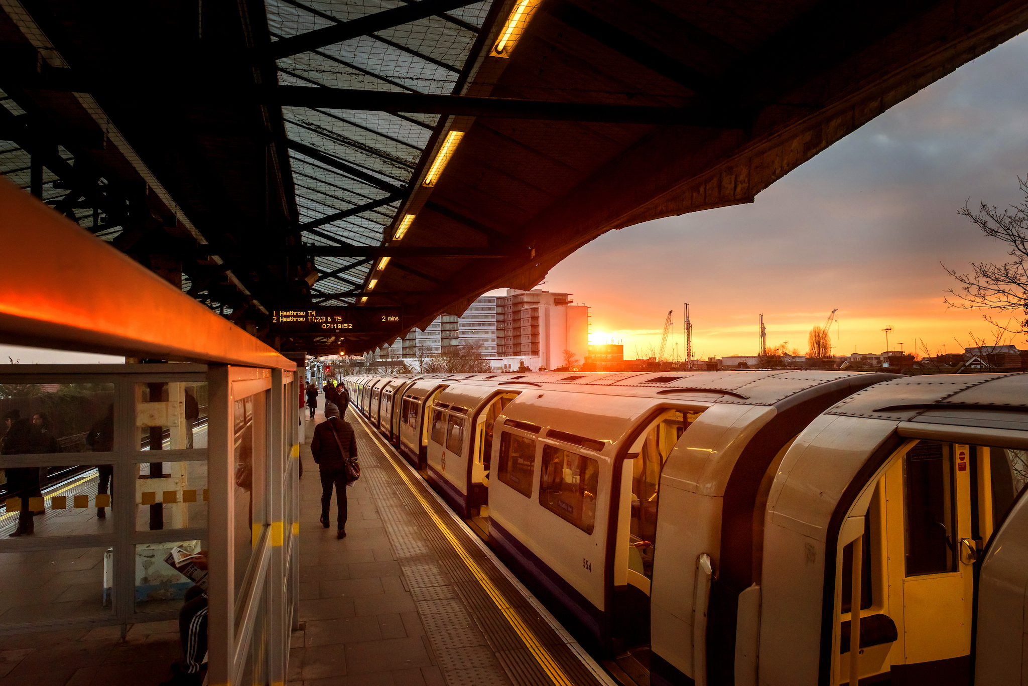 DO NOT REUSE - TfL Creative Solutions campaign, Feb 2018 - Sunrise Hounslow Central Station at the  on the 23/02/2018. Photo: David Tett