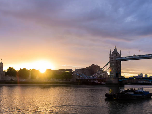 London, sunrise