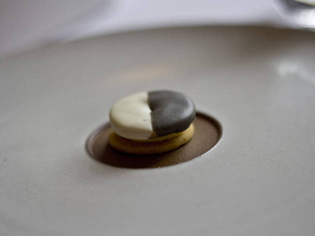 Black-and-white cookie at Eleven Madison Park