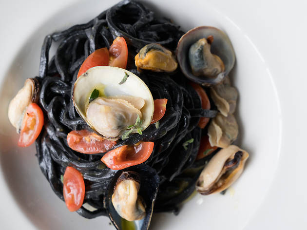 Squid ink tagliolini at Il Brutto