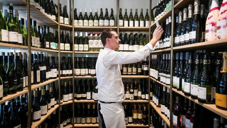 Wine cellar at Berts The Newport