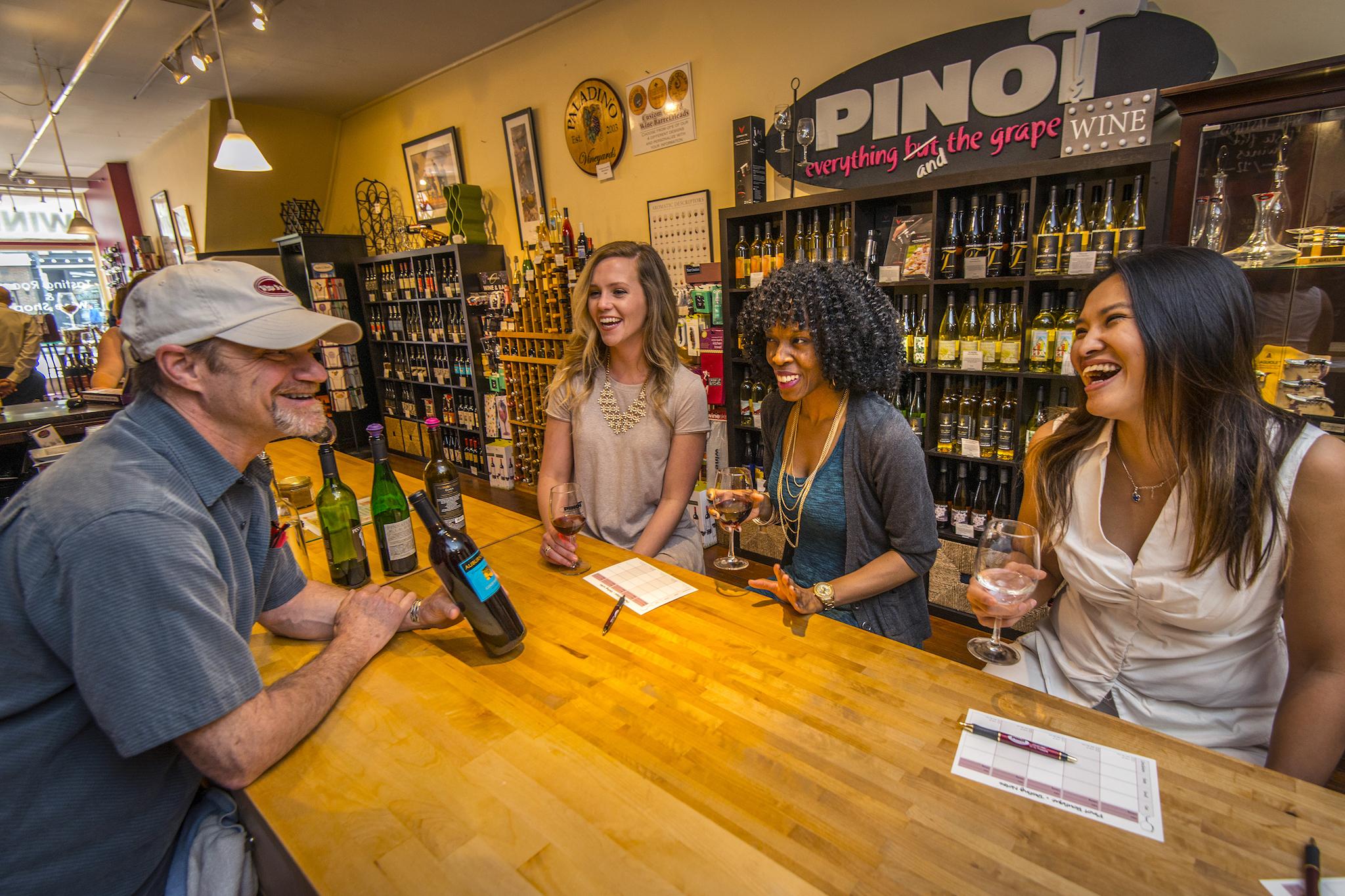 Pinot Boutique is a fun spot to taste local wine in Old City