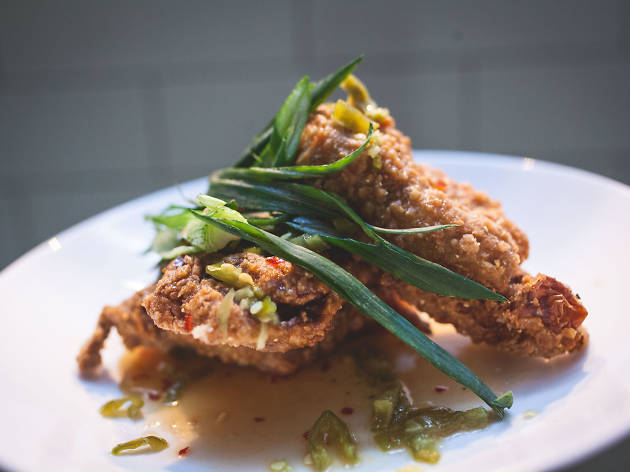 Check out this delicious fried chicken at Kensington Quarters