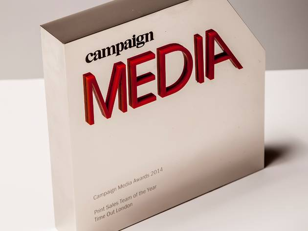 Time Out London wins print sales team of the year.