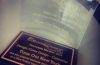 TIME OUT NEW YORK RECEIVES MIN'S 2014 EDITORIAL & DESIGN AWARD FOR MOST IMPROVED PUBLICATION