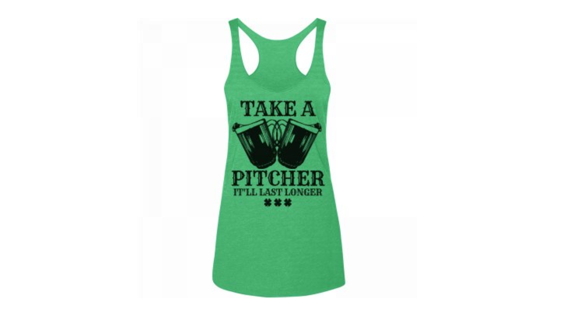 e67a556f7 St. Patrick's Day bartender girl tank, $21.97, customizedgirl.com