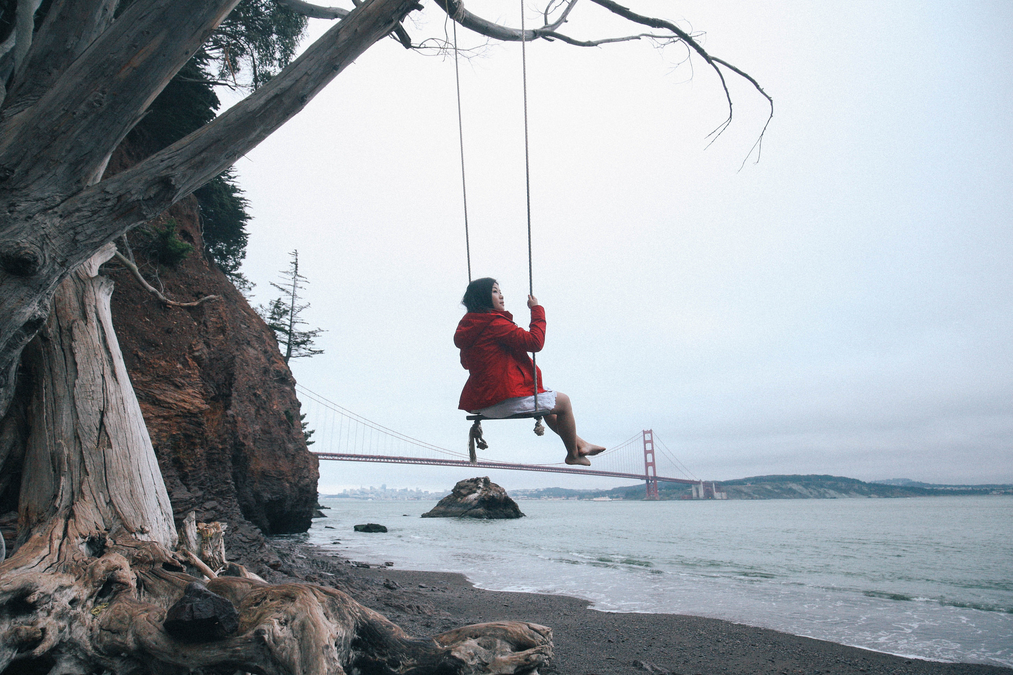 Hike to these hidden rope swings with gorgeous views of the Bay Area
