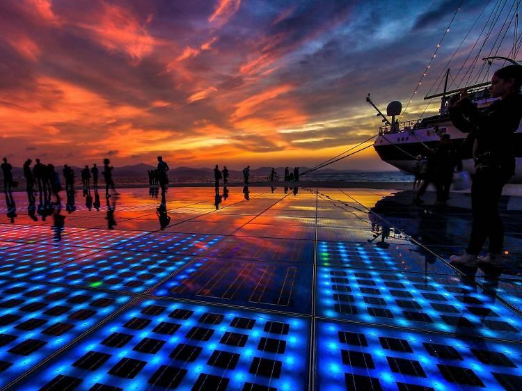 The Sea Organ at sunset
