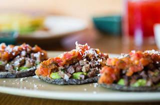 Tlacoyos Cascabel comida mexicana garnacha Lula Martín del Campo