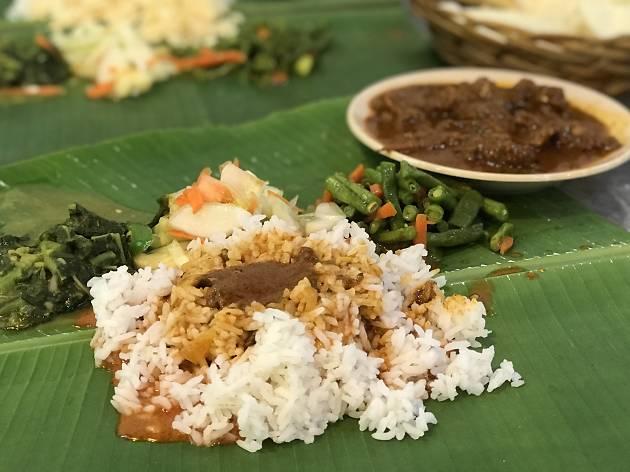 Appu Curry House banana leaf rice