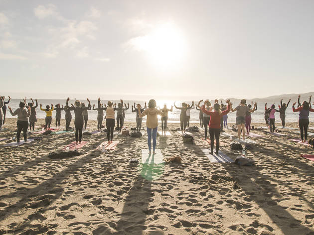 Spring Equinox Sunset Silent Yoga and Disco