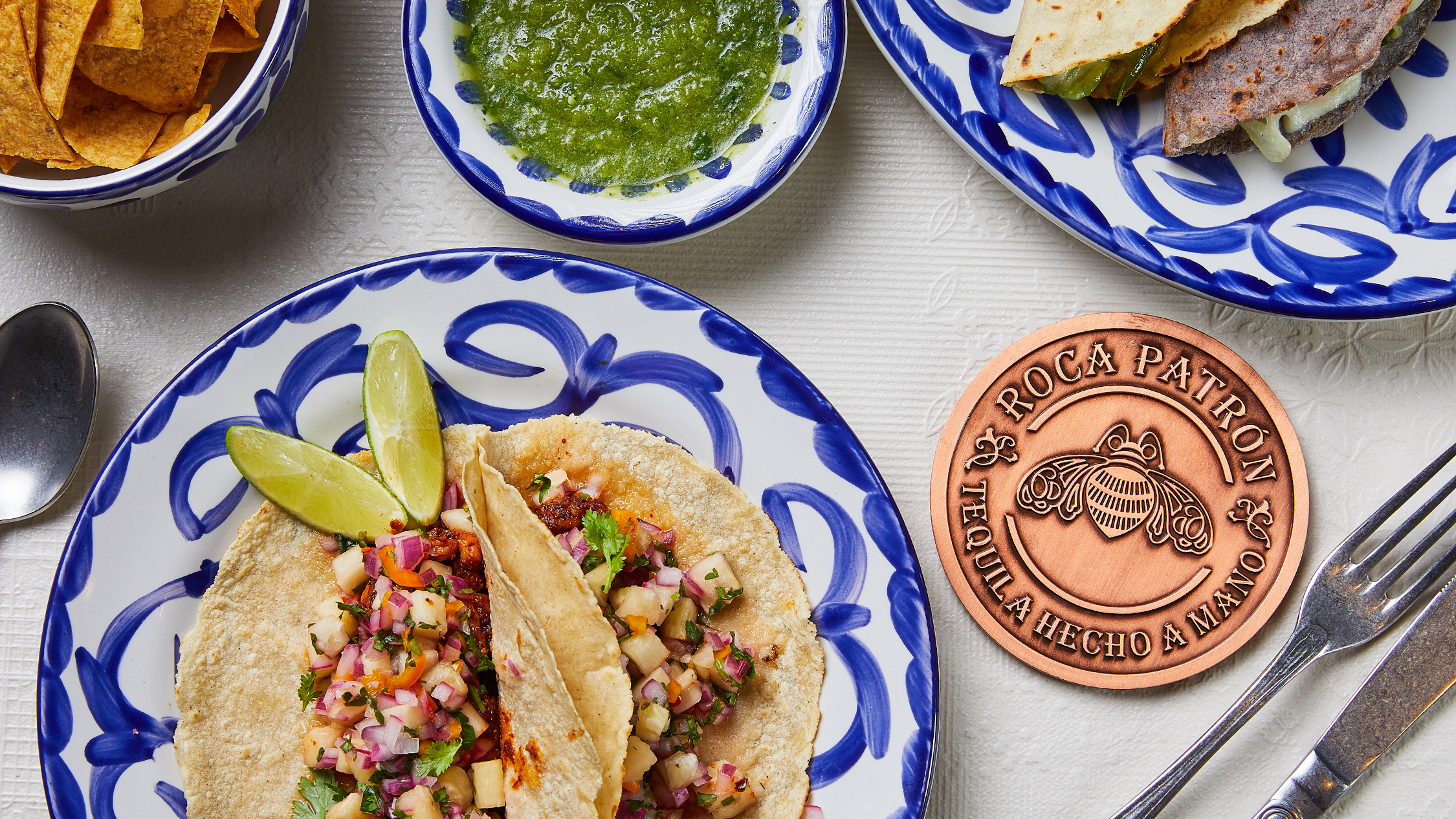 Tacos and detail at Bar Patron by Rockpool