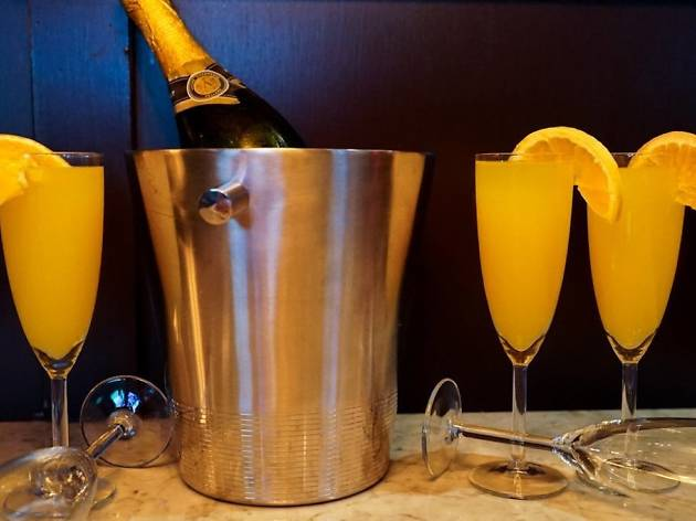 Vesper hosts a bottomless mimosas brunch every Saturday and Sunday for $25
