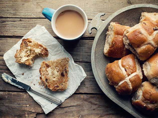 Feather and Bone Hot cross buns