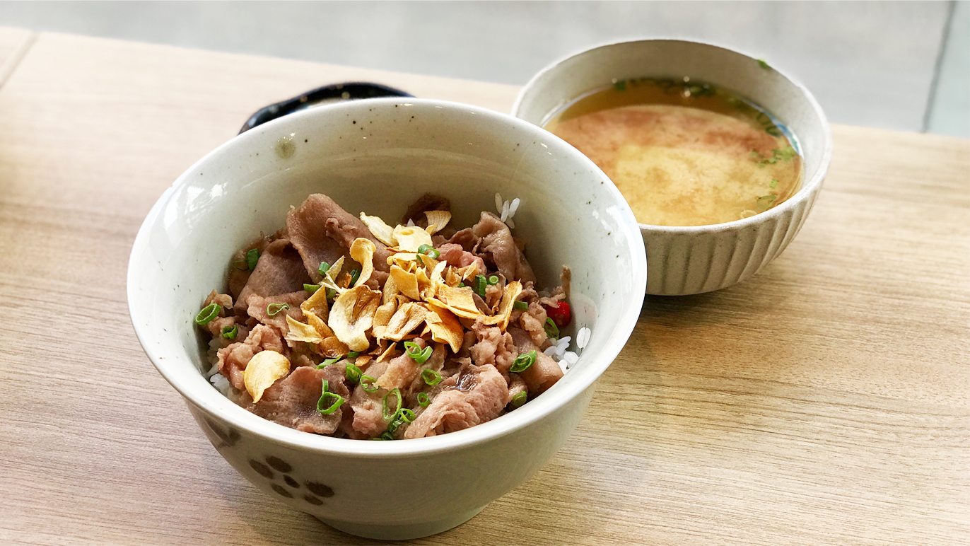 Mei by Fat Spoon ox tongue with mirin sauce rice bowl