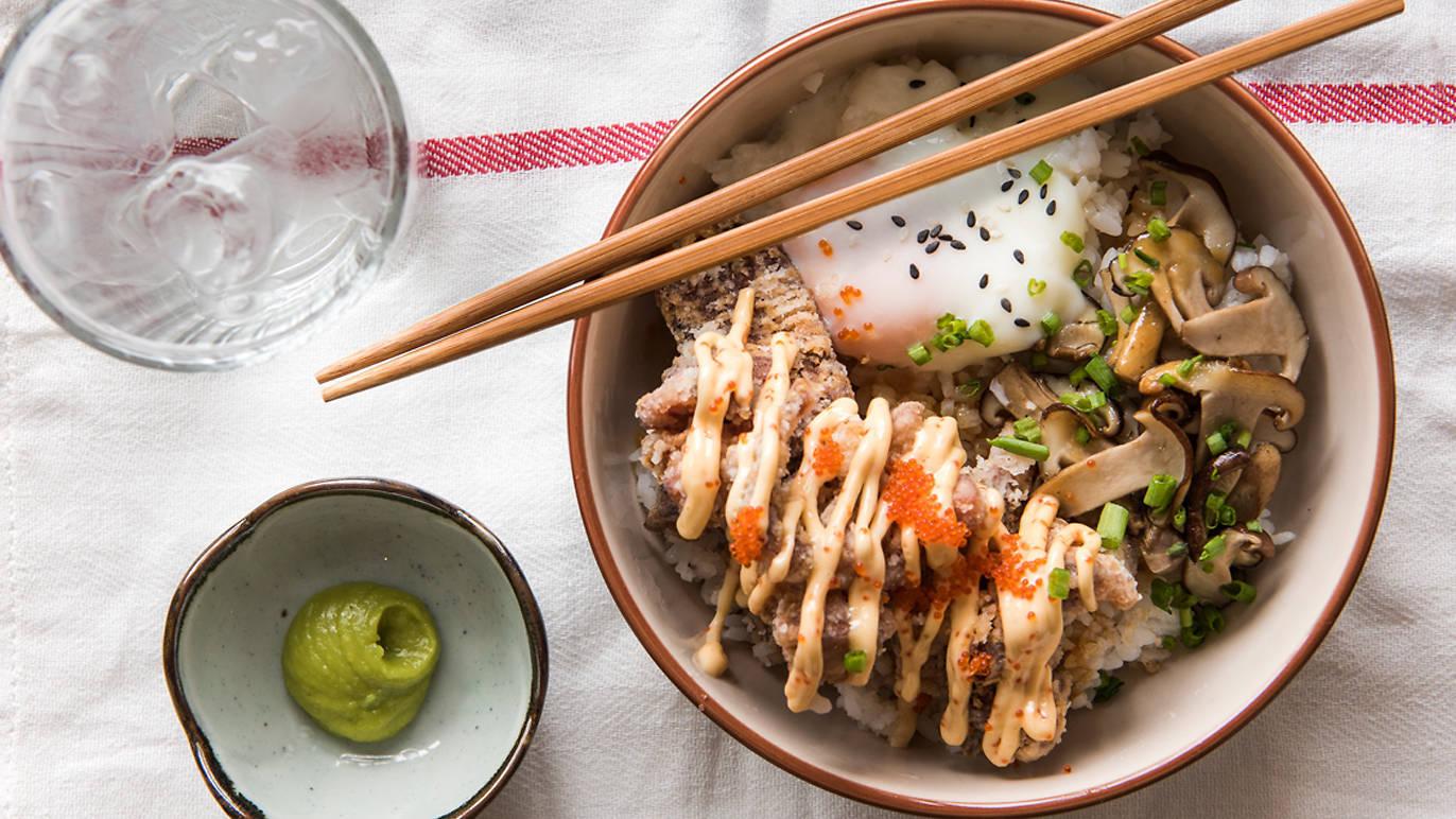 Food by Fat Cat Fattie Bom Bom rice bowl