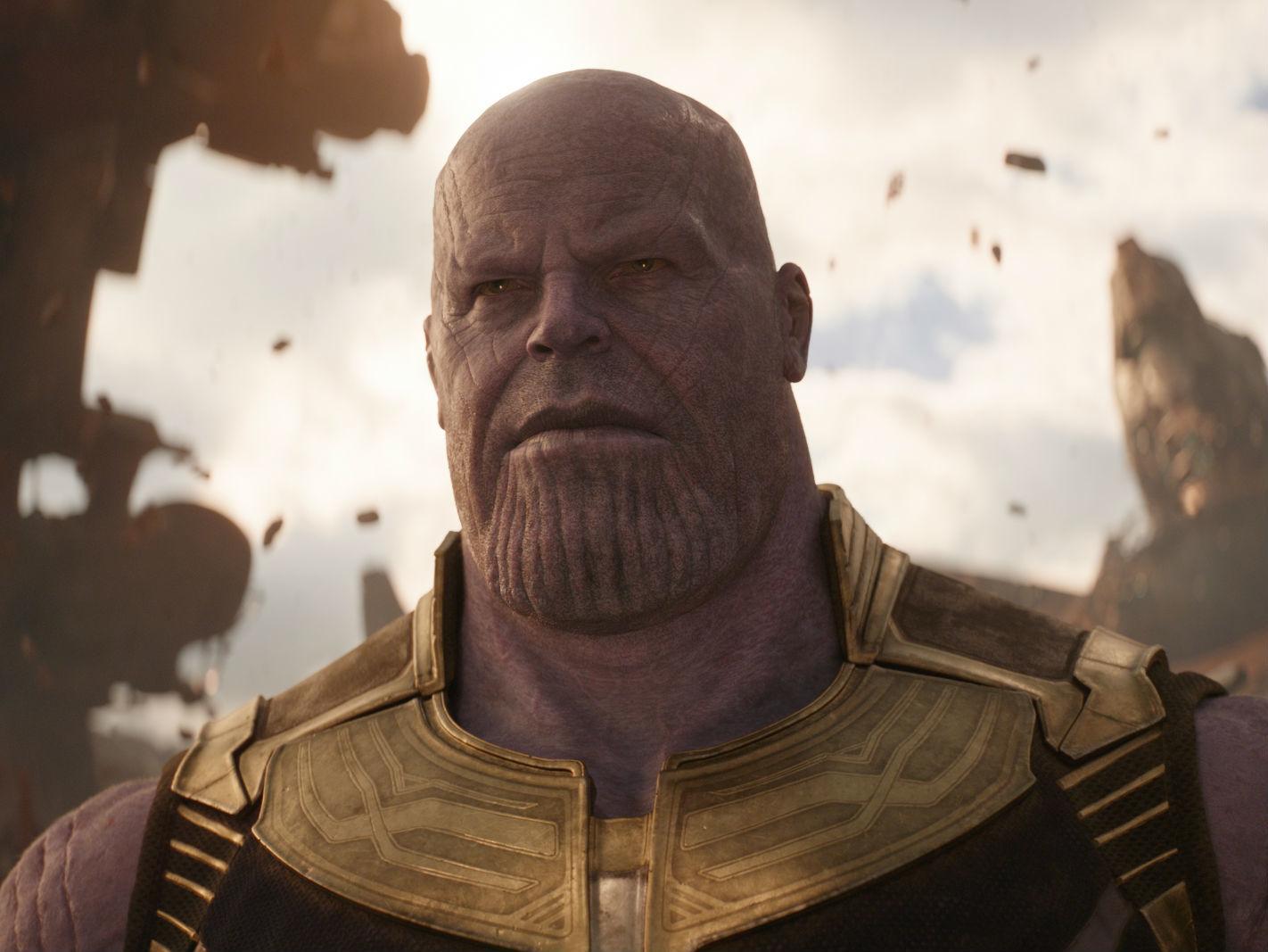 Thanos y las Gemas del infinito en Avengers: Infinity War