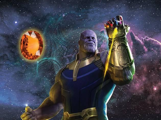 Thanos y gema naranja