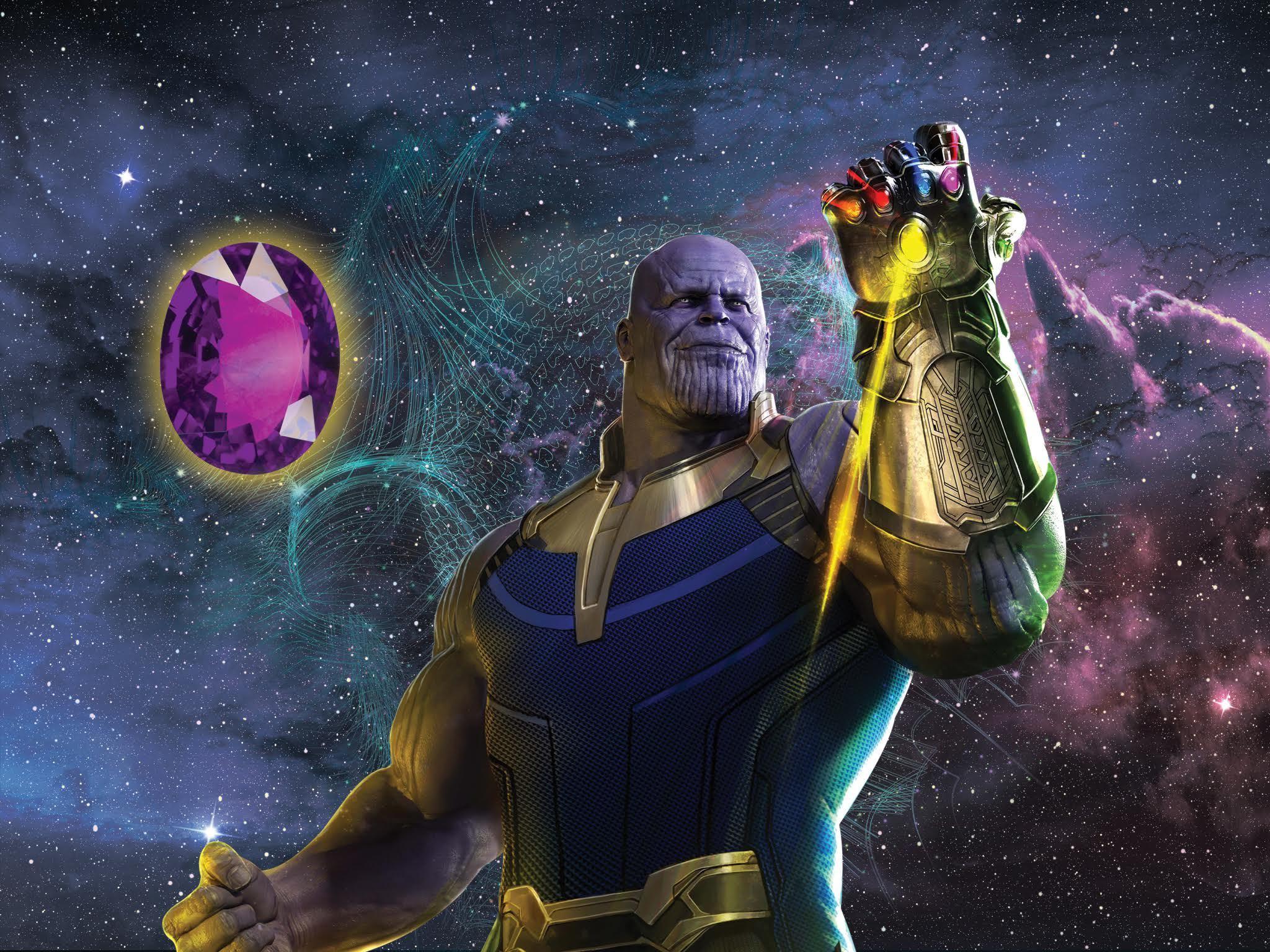 Thanos y la gema morada