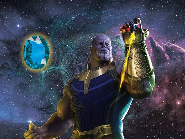 Thanos y la gema azul