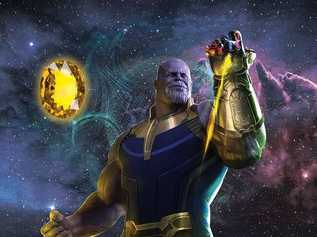 Thanos y la gema amarilla