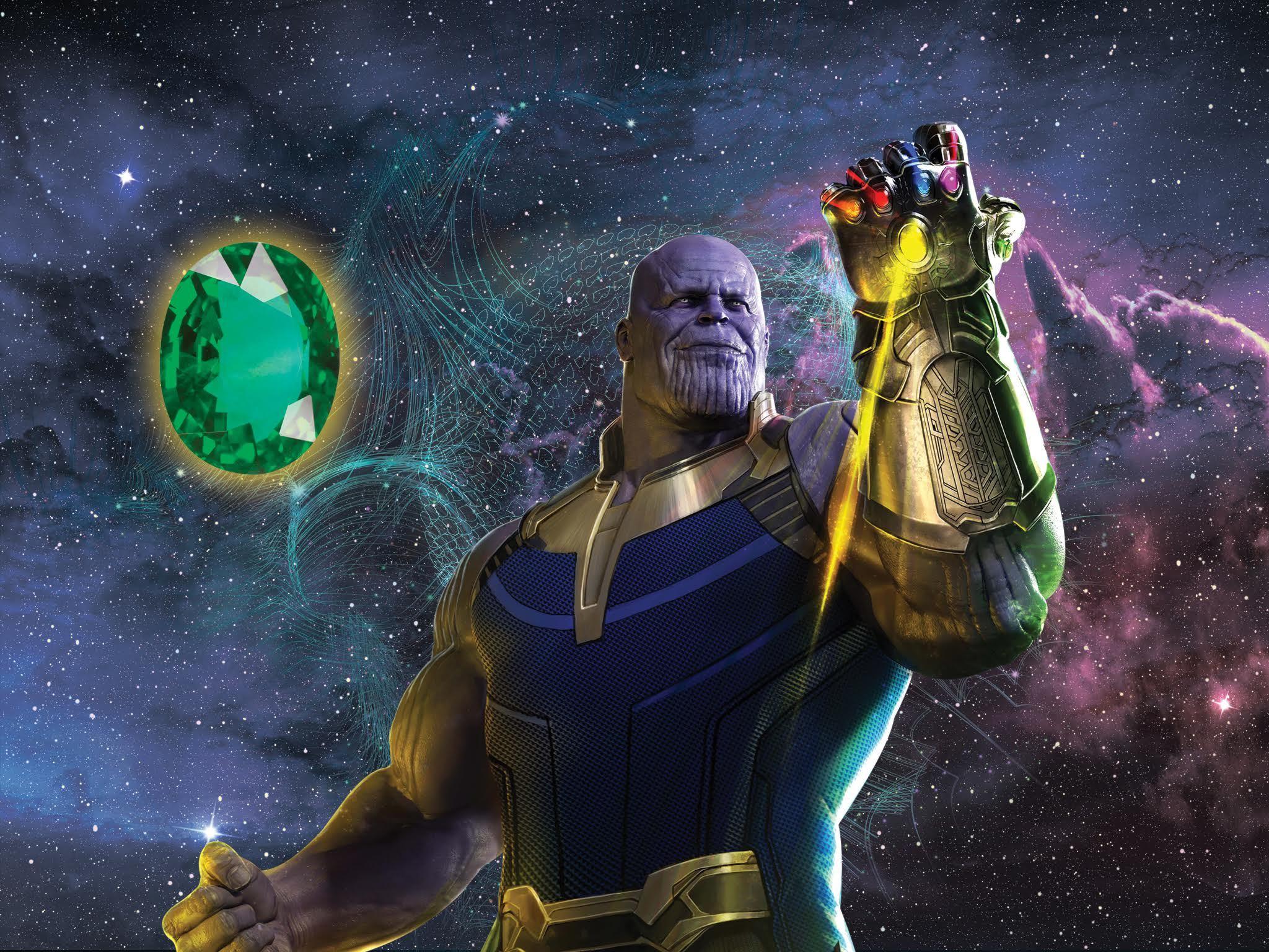 Thanos y la gema verde