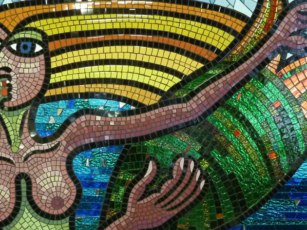 Mermaid mosaic by Deborah Halpern