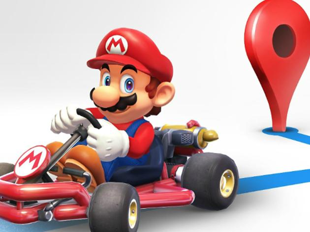 Mario Bros et porta a casa amb el Google Maps