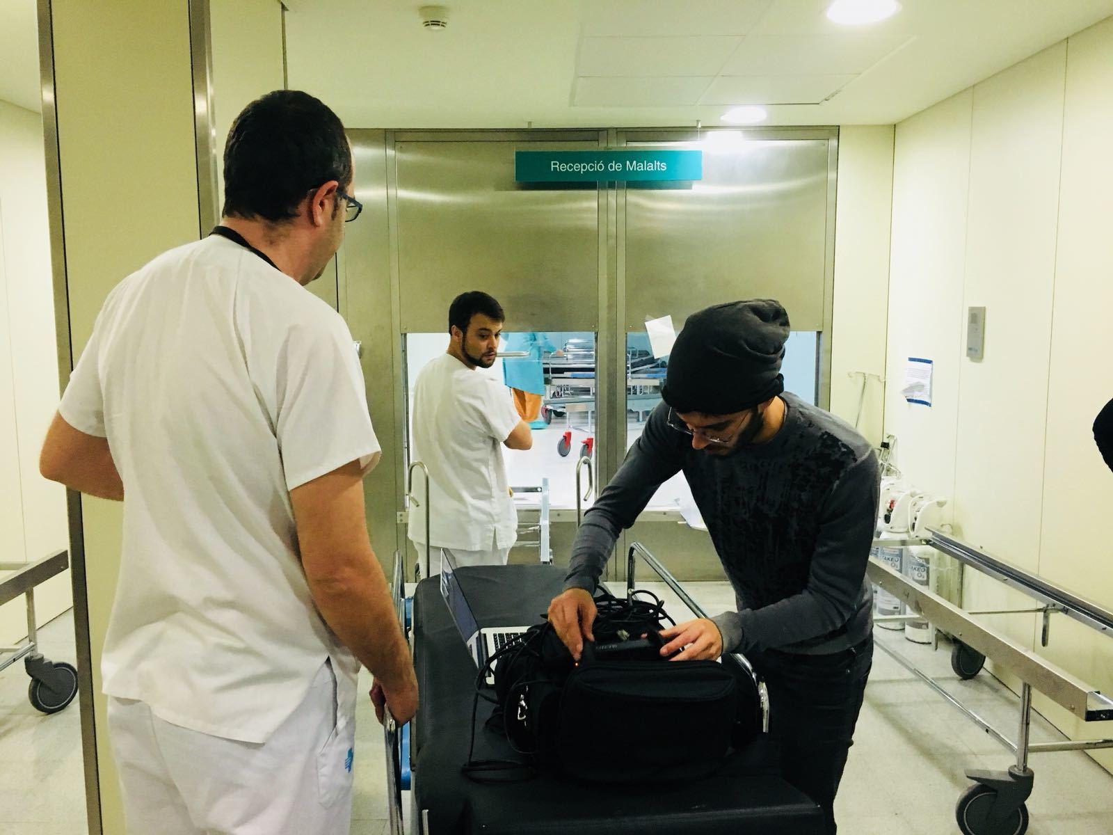 El Sónar registra l'experiència d'estar ingressat en un hospital