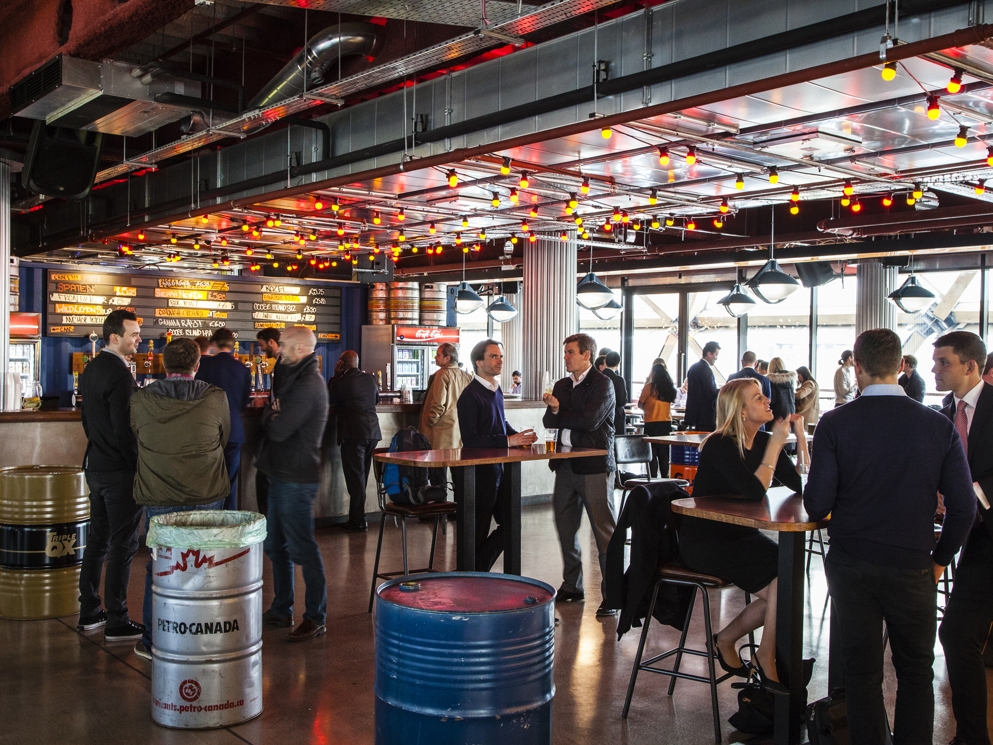 Canary Wharf bars