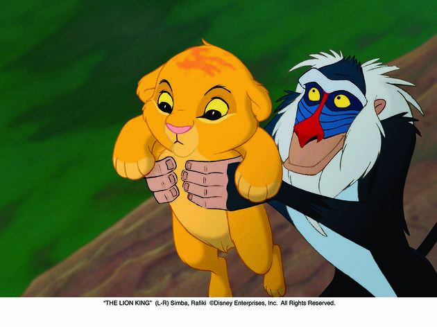 """THE LION KING""(L-R) Simba, Rafiki©Disney Enterprises, Inc.  All Rights Reserved."