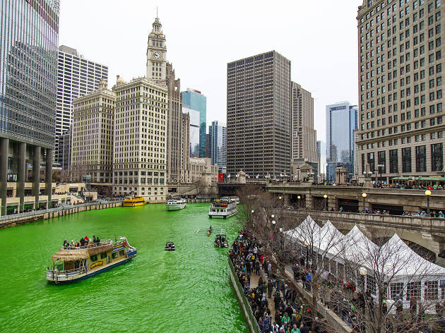 Dyeing of the Chicago River
