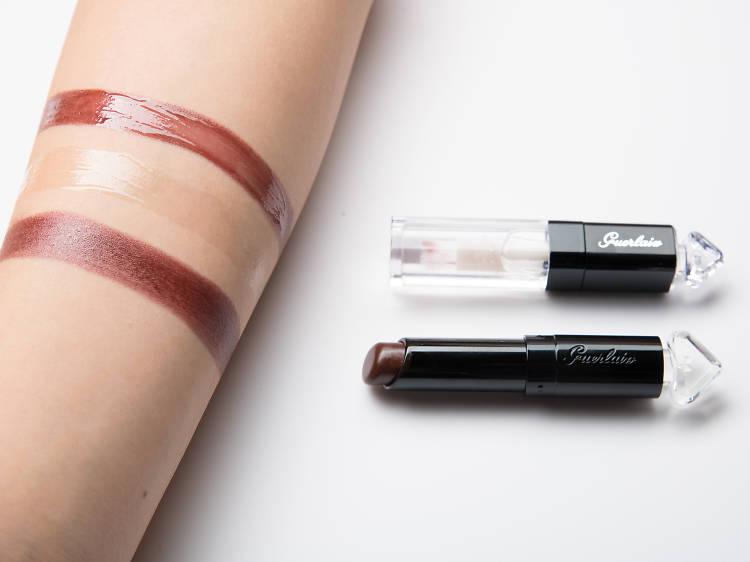 Guerlain La Petite Robe Noire Lip & Shine 保濕唇妝底霜與亮光釉 / 小黑裙唇膏 017