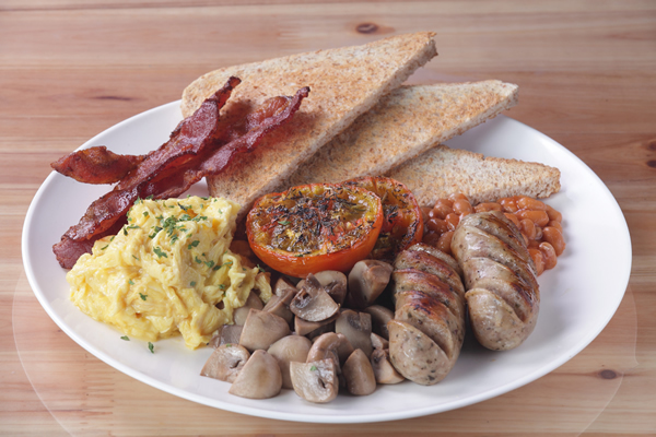 Tuck into a full English