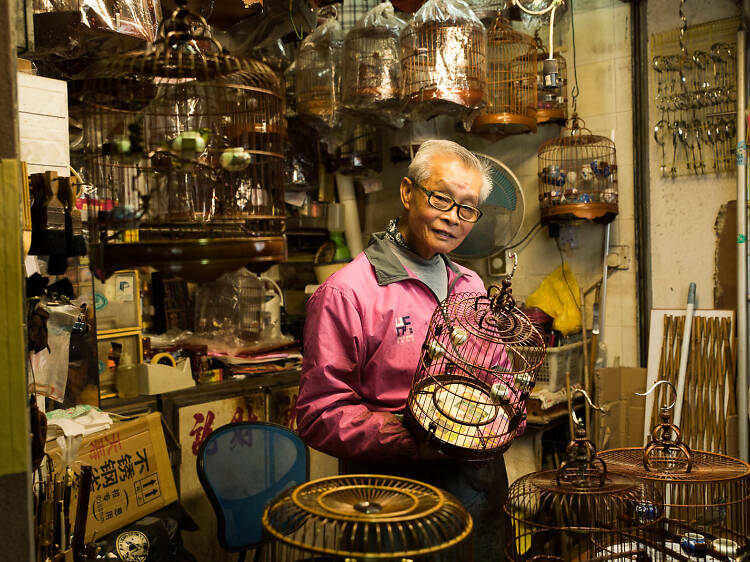 Admire traditional handmade birdcages