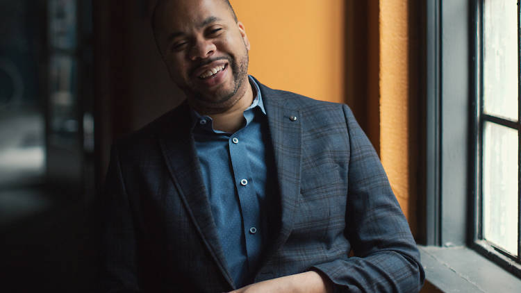Elle columnist R. Eric Thomas talks about Trump, his new play, Mrs. Harrison, and Maxine Waters