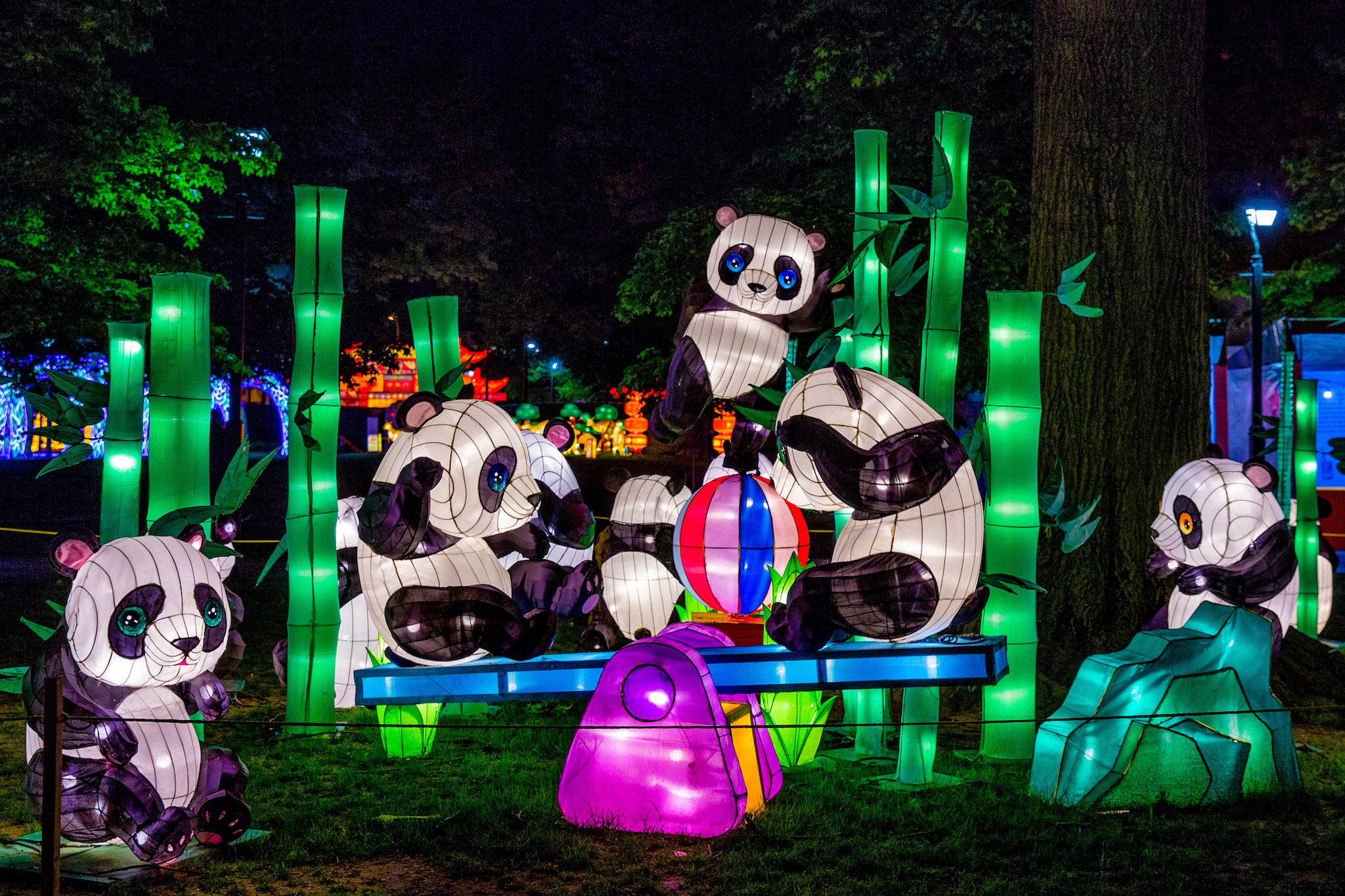 The Chinese Lantern Festival takes place in Philadelphia's Franklin Square