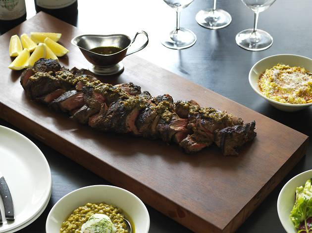 Cape Grim braided beef fillet with Cafe de Paris butter